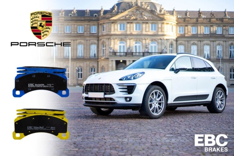 EBC Brakes представят YellowStuff и BlueStuff NDX Performance накладки за Porsche Macan